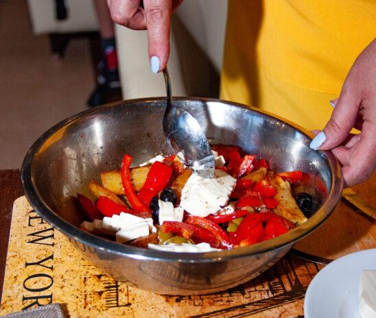 Салат из картошки: мастер-класс в «Барской усадьбе»